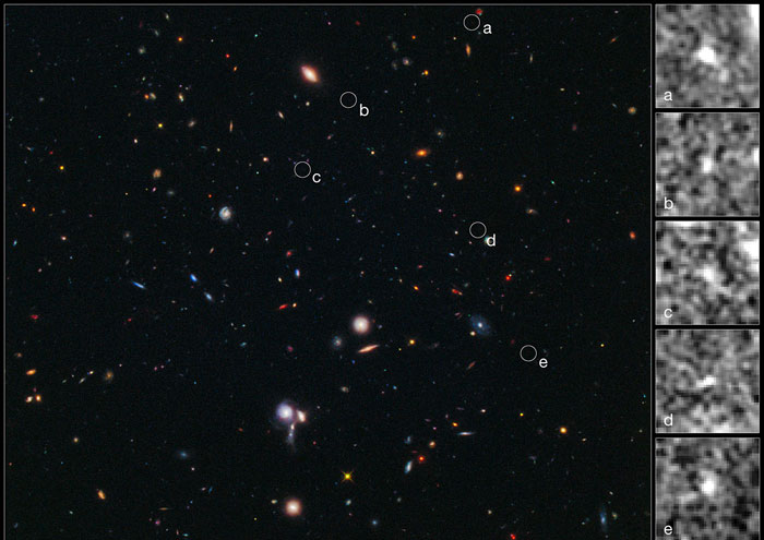 Phát hiện cụm thiên hà xa chưa từng thấy