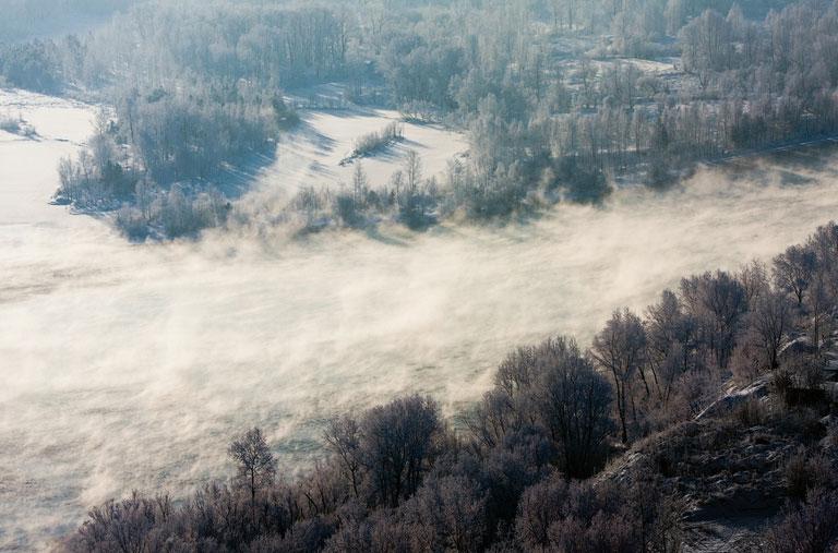 Băng tuyết lạnh giá tại Krasnoyarsk
