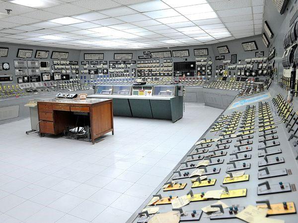 Phòng điều khiển của nhà máy Bataan.