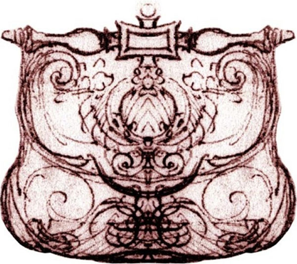 Bản vẽ phác thảo chiếc túi Pretiosa của Leonardo da vinci