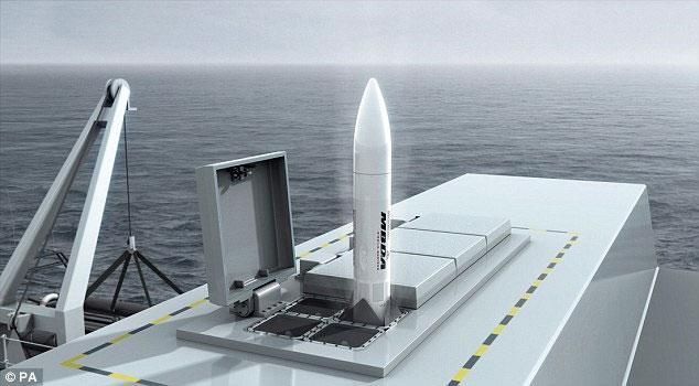 Tên lửa Sea Ceptor dự kiến sẽ đạt tốc độ gấp 3 lần âm thanh.