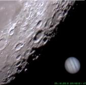 """Video: Mặt trăng """"ăn"""" sao Mộc"""