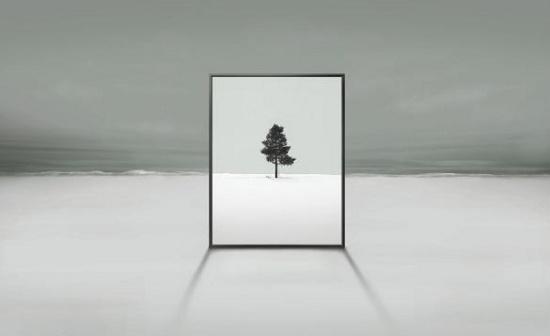 Hình ảnh quảng cáo thiết kế TV mới của Samsung.
