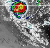 Lốc xoáy màu đỏ trên bầu trời miền Tây Australia