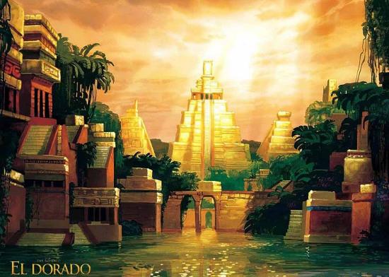Mô tả về thành phố vàng El Dorado theo truyền thuyết của người châu Âu.