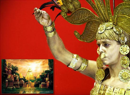 El Dorado thực chất là một nhà lãnh đạo của người Muisca thích  phủ vàng, chứ không phải thành phố vàng như truyền thuyết.