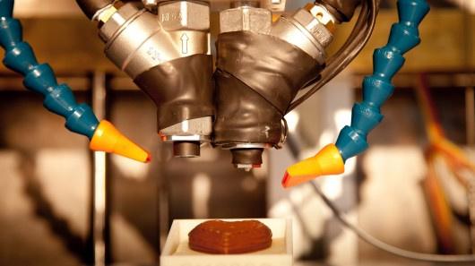 Chiếc máy in 3D đầu tiên trên thế giới sử dụng  nguyên liệu thực phẩm để tạo nên những món ăn.