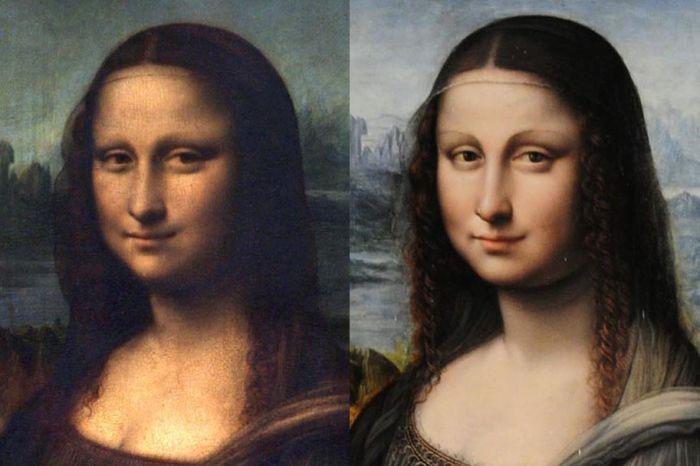 Bức tranh được phục hồi (phải) nhiều chi tiết hơn bức tranh gốc.