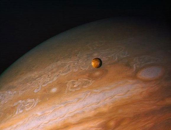 Hình ảnh mặt trăng Galilean cỡ lớn của sao Mộc được NASA chụp được.