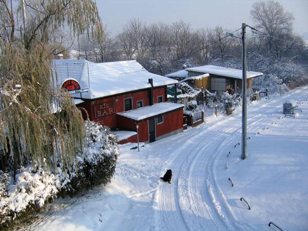 Tuyết phủ trắng tại Zagreb