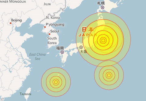Động đất rung chuyển Nhật Bản