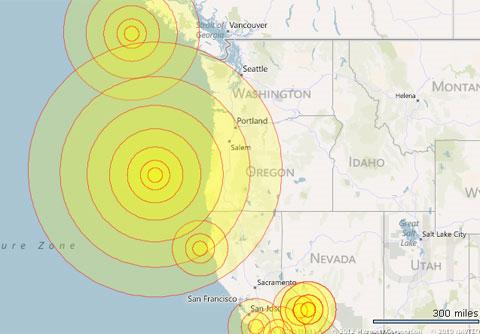 Bờ tây nước Mỹ lại rung chuyển vì động đất