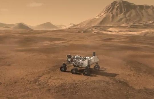Video: Mô tả phi thuyền đưa robot Curiosity đáp xuống sao Hỏa
