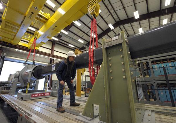 Hải quân Mỹ tiến hành thử nghiệm súng điện từ