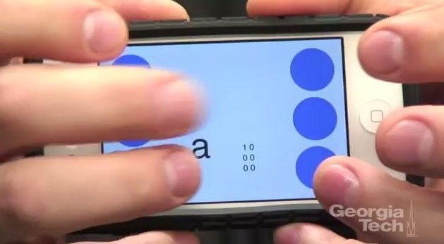 Ứng dụng giúp người khiếm thị gõ tin nhắn