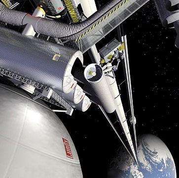Du khách vào vũ trụ bằng thang máy 200km/h