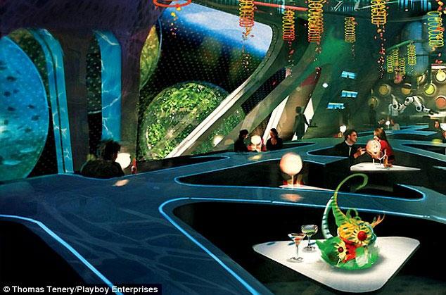 Playboy mở câu lạc bộ thoát y ngoài vũ trụ