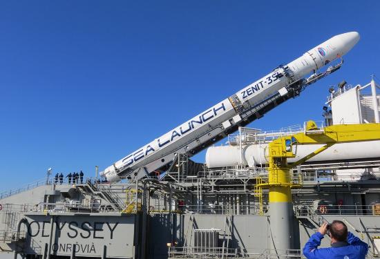 Tên lửa đẩy Zenit-3SL trên bệ phóng