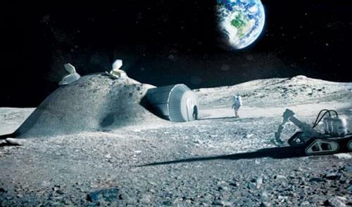 """""""In"""" cơ sở trên mặt trăng"""