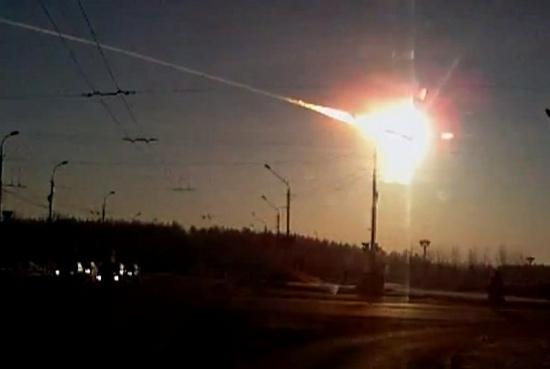 Hình ảnh thiên thạch rực cháy trên bầu trời nước Nga.