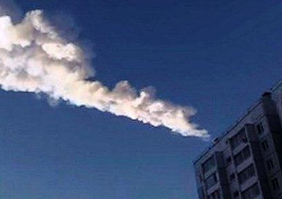 Thiên thạch cháy trên bầu trời trong vùng dọc dãy nũi Uran, nước Nga.