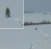 Quay được hình ảnh Người tuyết ở Nga