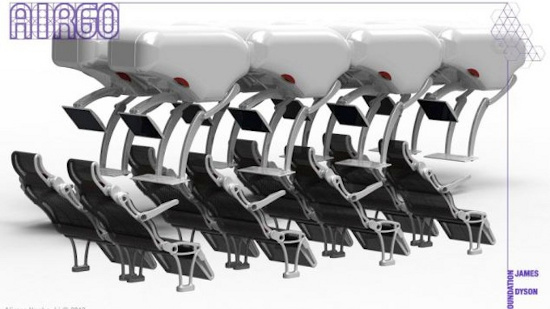 Mẫu thiết kế ghế AirGo tạo sự thoải mái và tiện nghi cho các hành khách vé phổ thông trên máy bay
