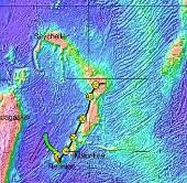 Phát  hiện lục địa nhỏ nằm ẩn dưới dung nham khu vực đảo Reunion và Mauritius
