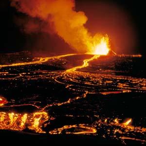 Sông lửa xuất hiện tại Hawaii