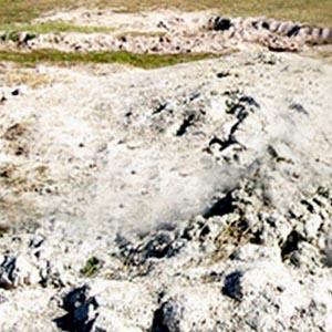 Đất phun trào tại Ninh Thuận