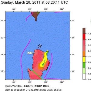 Động đất mạnh xảy ra ở Philippines và Đài Loan