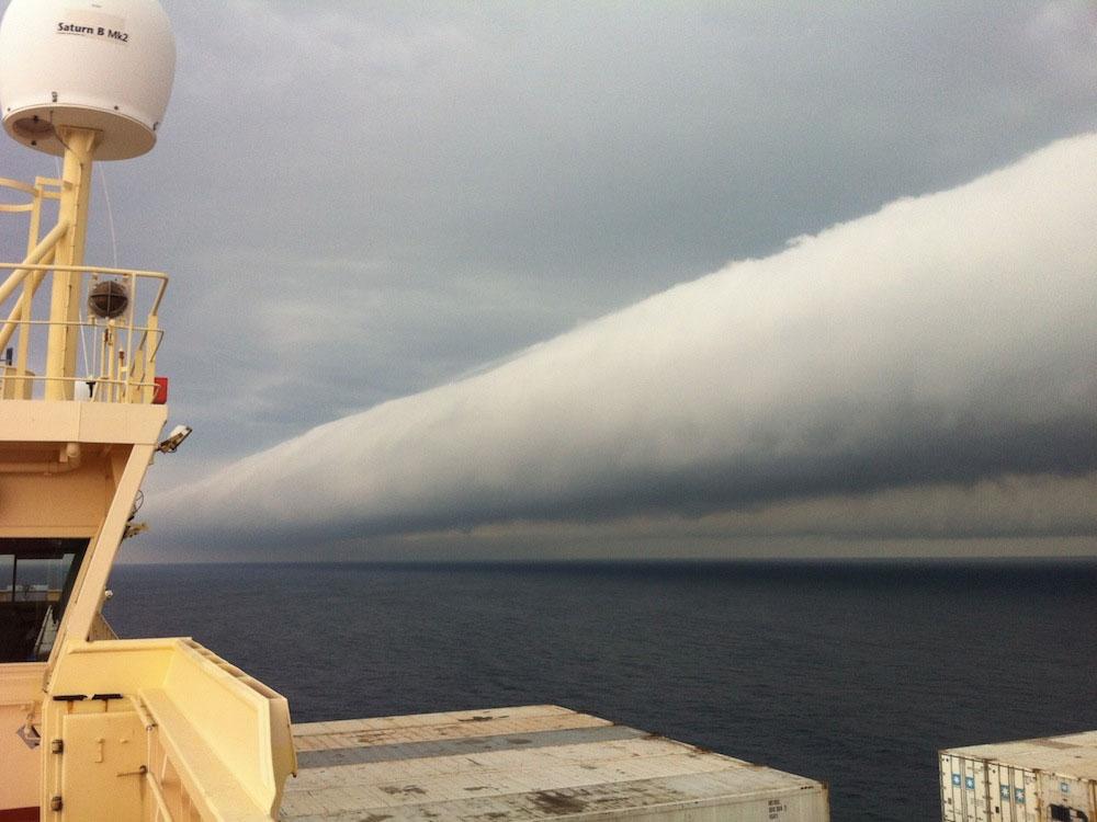 Cuộn mây khổng lồ ở Brazil
