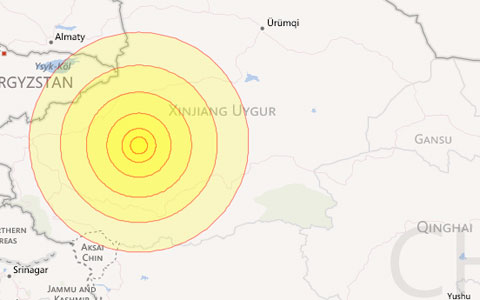 Động đất mạnh ở tây bắc Trung Quốc
