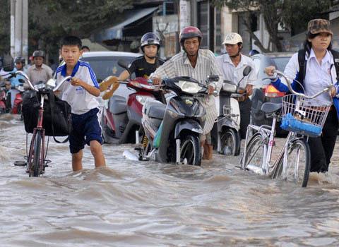 Mất 40% đồng bằng Cửu long nếu nước biển dâng một mét