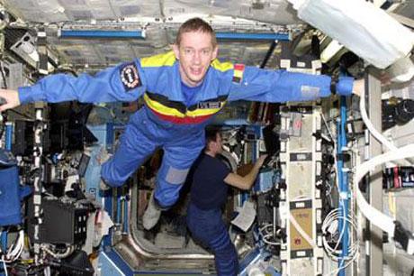 Frank de Winne là người Bỉ thứ hai bay vào vũ trụ.