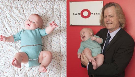 Phần mềm trên Exmobaby cho phép bố mẹ ghi lại những đặc tính sinh lý của cơ thể trẻ