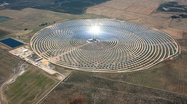 Nhà máy năng lượng mặt trời hoạt động ban đêm
