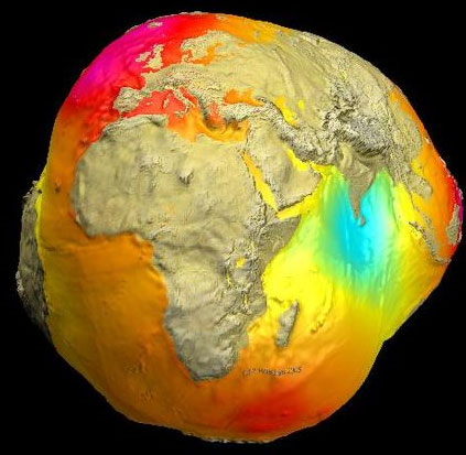 Trái đất bị bóp méo vì trọng lực thay đổi?
