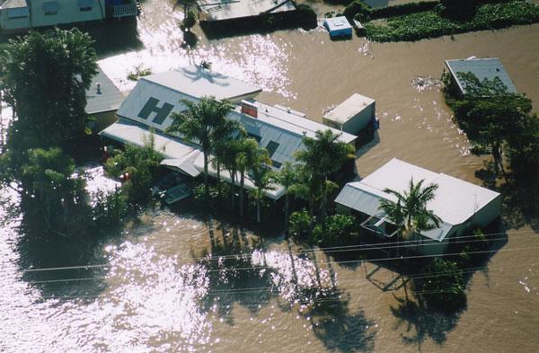 Cảnh ngập lụt tại Australia. (
