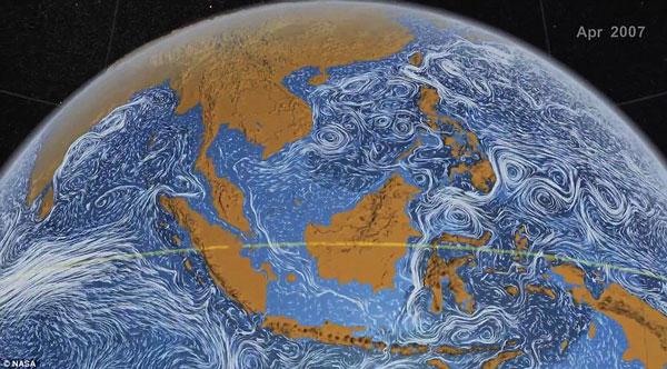 Khi cơ quan Nasa thực hiện một phác thảo về bề mặt đại dương của Trái đất, họ đã thu được một kết quả ngoài sức tưởng tượng.