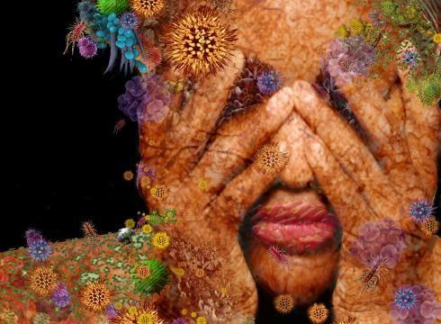 Cơ thể con người chứa đầy ắp vi sinh vật.
