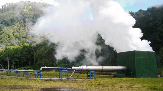 Một nhà máy địa nhiệt trên đảo Bali của Indonesia