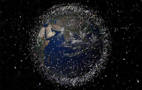 Thiên thạch và rác thải vũ trụ có thể gây ra mối đe dọa lớn  cho Trái Đất và loài người trong tương lai.
