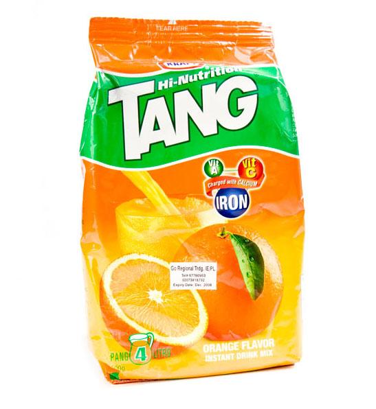 Tang được sử dụng trong không gian để làm dịu đi mùi khó chịu trong nước uống trên tàu.