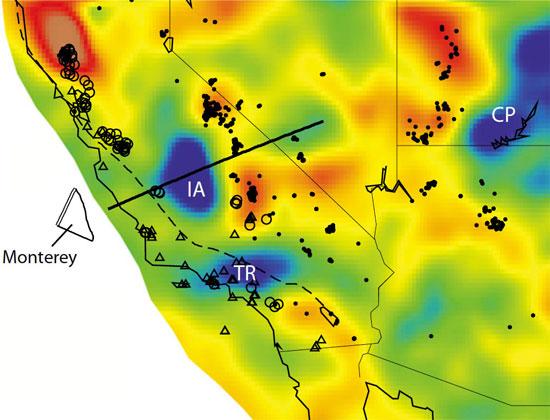 Mảng Isabella đã được tìm thấy ở độ sâu 100km bên dưới California