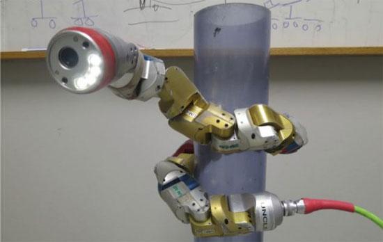 Robot rắn biểu diễn trong phòng thí nghiệm