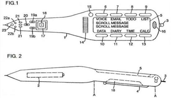 Bút Apple theo mô tả trên bằng sáng chế mới