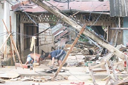 Tang thương vùng rốn lũ Thái Lan