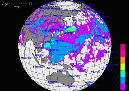 Mây phóng xạ gia tăng mức độ hạt nhân khi tới Đông Nam Á