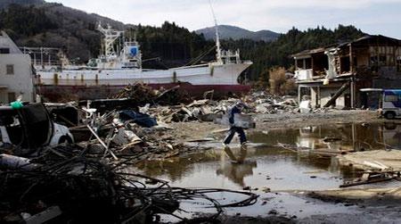 Siêu động đất Nhật làm đất nhão nghiêm trọng